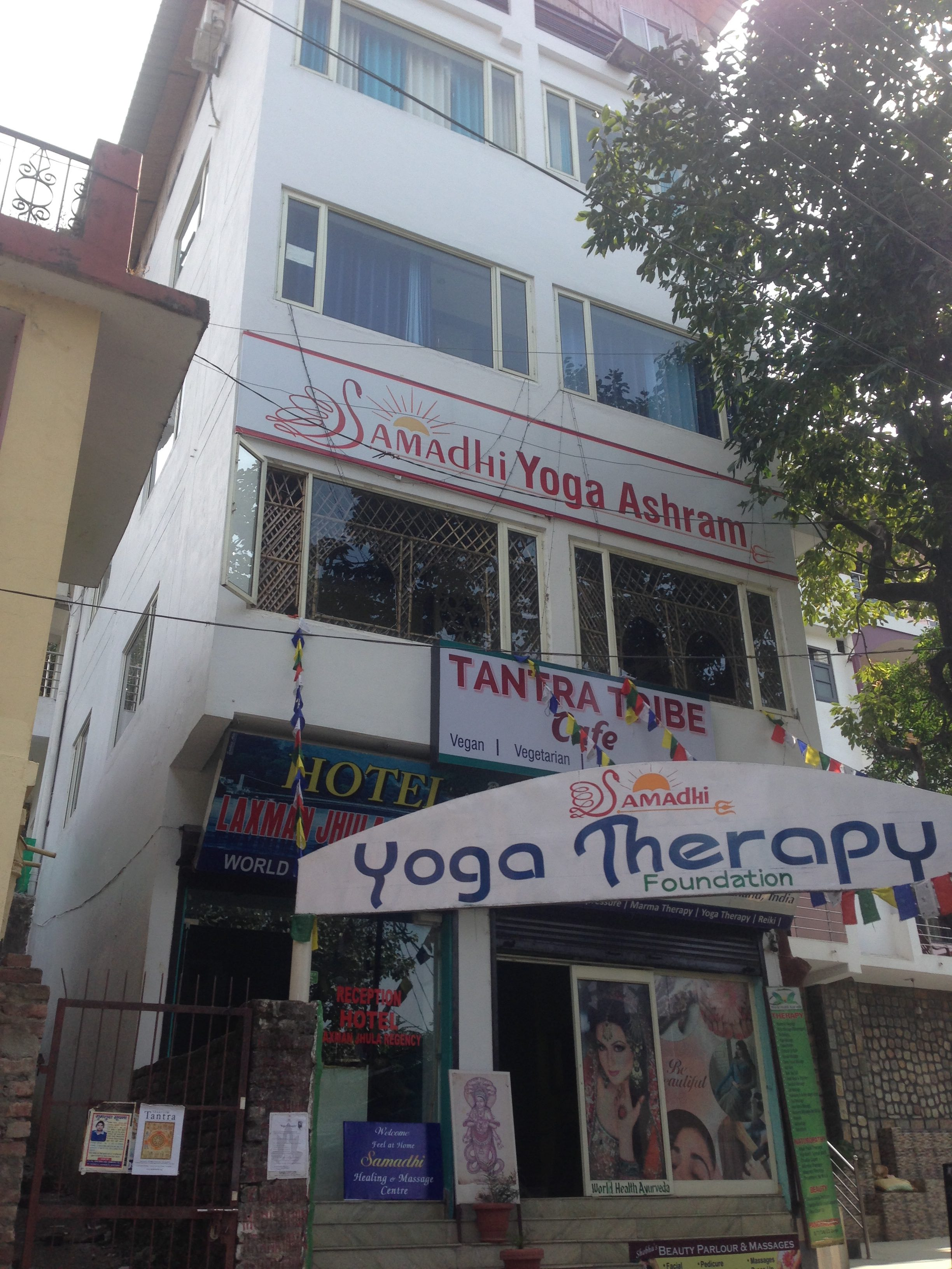 Yoga ashram in Rishikesh, India