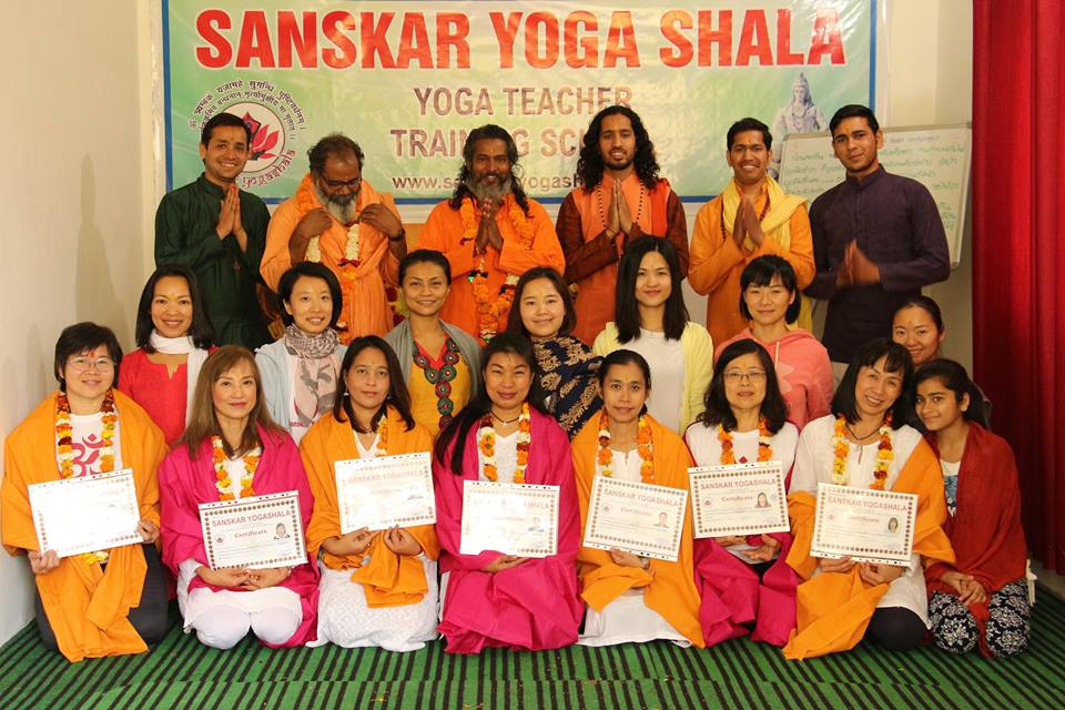 Yoga teacher training course at Sanskar Yoga Shala