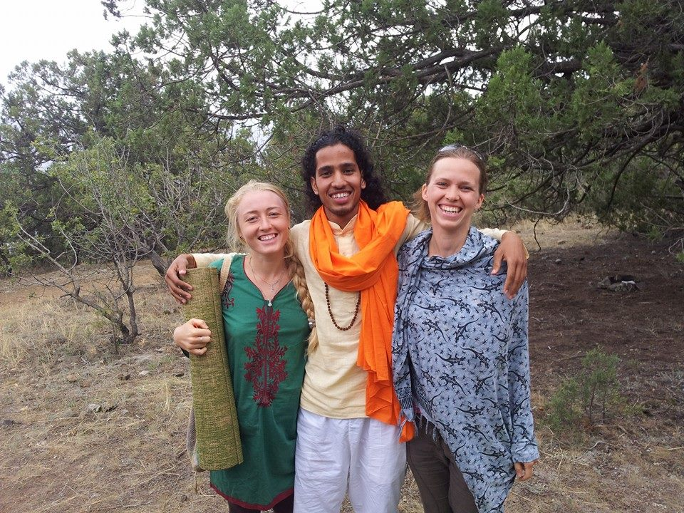 Naveen Joshi yoga teacher in Rishikesh conducting class in Crimea Ukraine