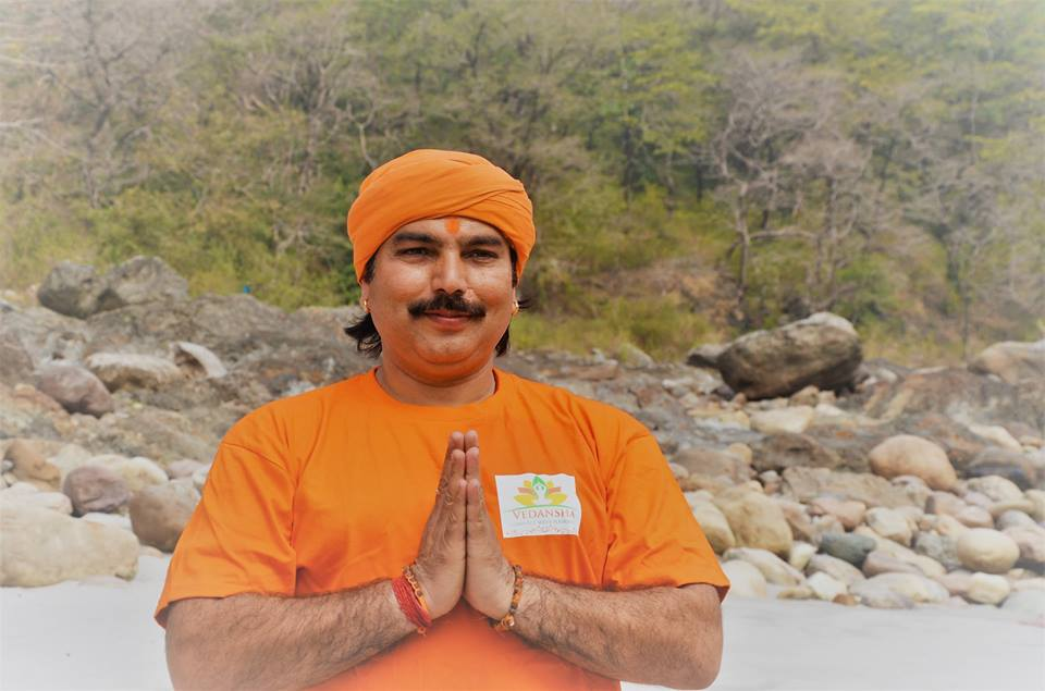 Pandey Ji hatha yoga and kundalini teacher in Rishikesh