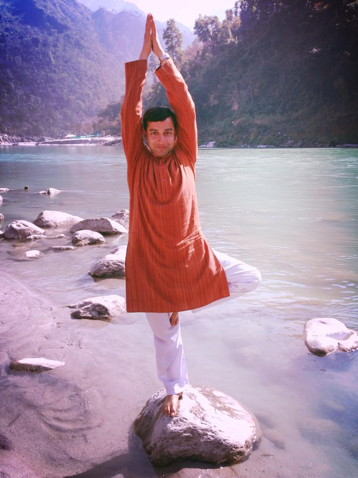 Rajendra Pandey a teacher of traditional holistic yoga