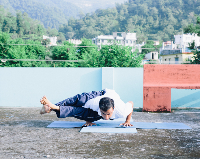 Rajendra Pandey hatha yoga teacher in Rishikesh