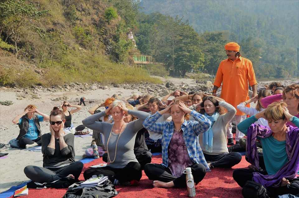 Pranayama and kundalini class in Vedansha yoga retreat Rishikesh
