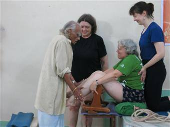 Usha Devi and BKS Iyengar yoga teacher