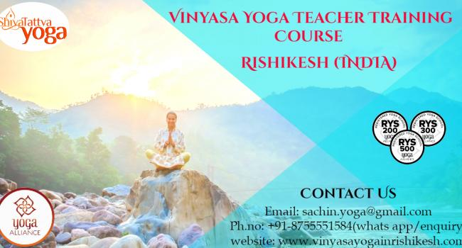 Yoga event 100 Hours Vinyasa Yoga Teacher Training in Rishikesh,India : vinyasa yoga in rishikesh Rishikesh