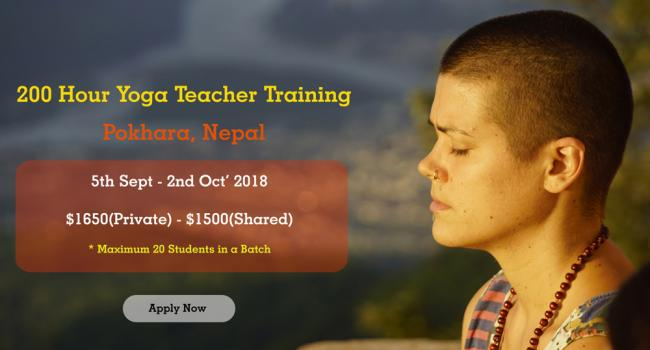 Yoga event Traditional 200 Hour Yoga Teacher Training in Pokhara, Nepal Pokhara