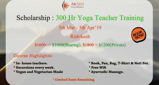 Yoga event 300 Hour Yoga Teacher Training Scholarship in Rishikesh Rishikesh