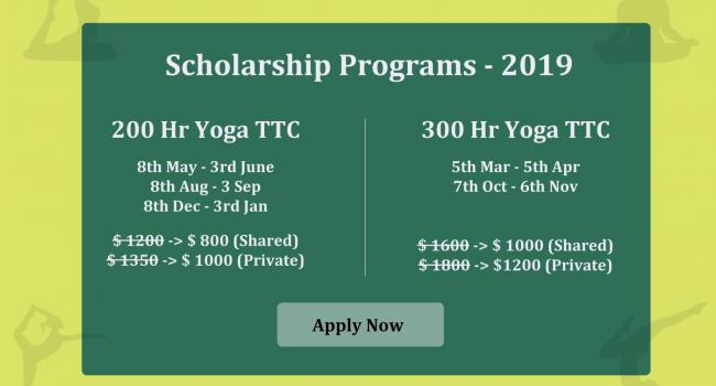 Yoga event Enrol for 200 Hr Yoga Teacher Training Scholarship In Rishikesh, India Rishikesh