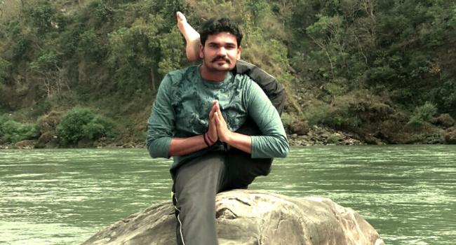 Yoga instructor Rana Paratap Singh Rishikesh
