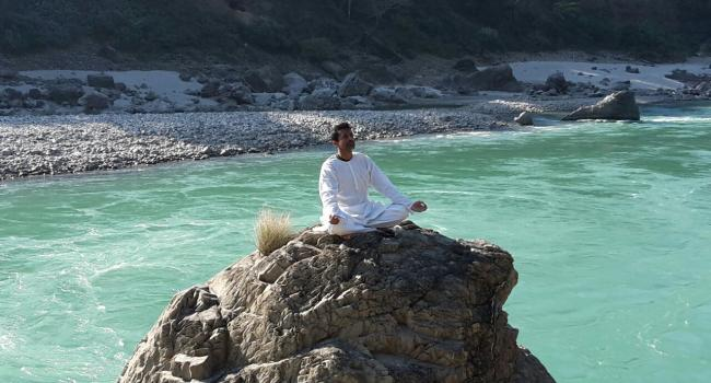 Yoga instructor Swami Premananda Rishikesh